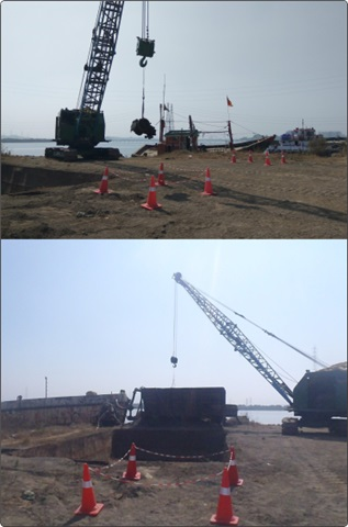 Crane Operator Course - Loading into Barge At Sea